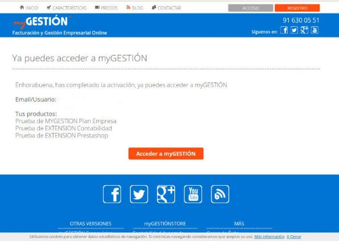 Cómo funciona myGESTIÓN