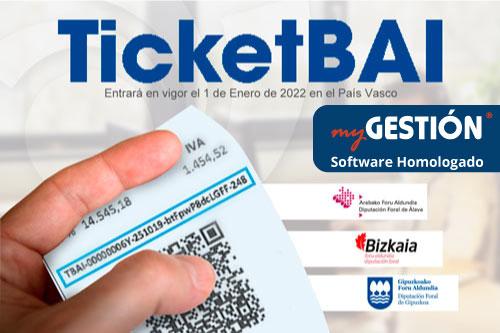 Ticket BAI: qué es, cuándo entra en vigor y qué software utilizar